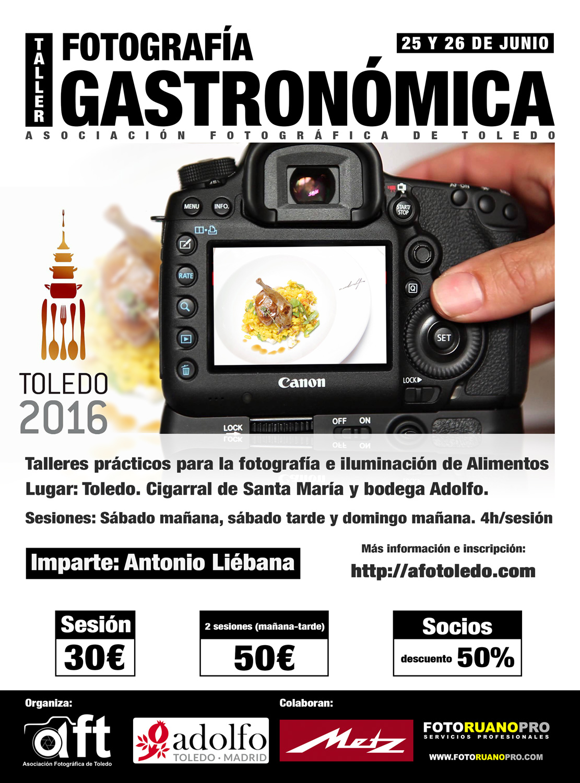 Taller de fotografía gastronómica
